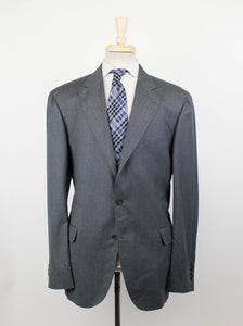 Wool Blend 3/2 Button Sport Coat - Gray
