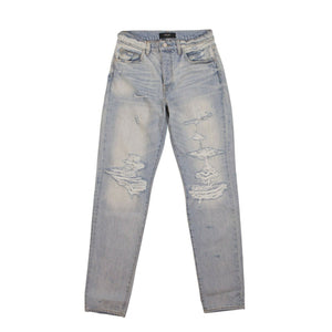 Destroyed Slouch Skinny Jeans - Super Light Blue
