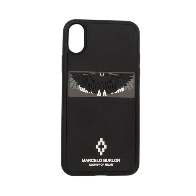 3D Wings iPhone X Phone Case - Black