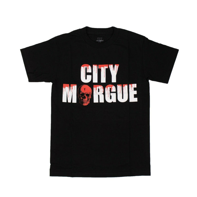 VLONE x CITY MORGUE Cotton 'Drip' Short Sleeve T-Shirt - Black
