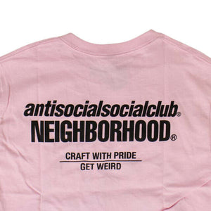 ANTI SOCIAL SOCIAL CLUB X NEIGHBORHOOD 'Cambered' T-Shirt - Pink