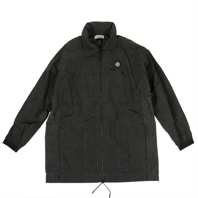 Si House Check Zip-Up Lightweight Jacket - Black
