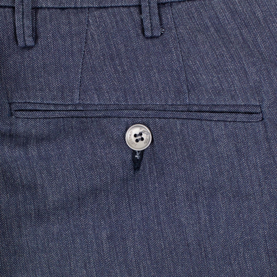 Blue Cotton Pants