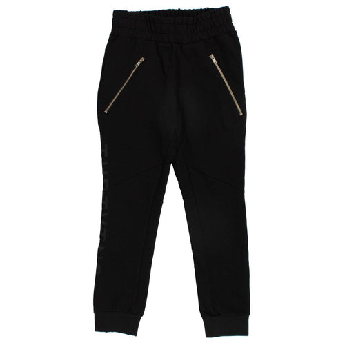 Cotton Sweat Pants - Black