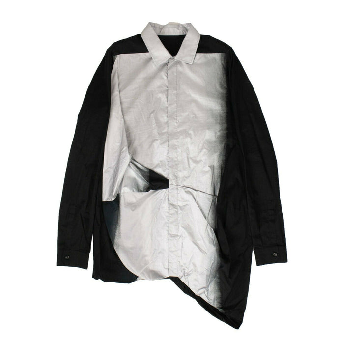 'Smash' Button Down Shirt - Black/Silver