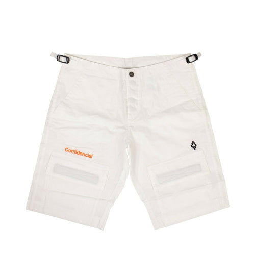Cotton 'Confidencial' Cargo Shorts - White