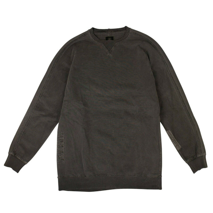 Organic Cotton Boro Crew Sweater - Black