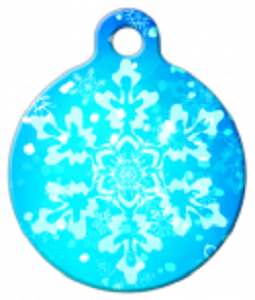 BLUE SNOWFLAKES PET ID TAG
