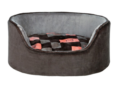 "Trixie Bed ""Currito"" - Grey/Salmon* ^85x65cm"