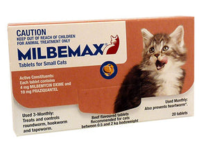 Milbemax Cat Wormer Small/Kitten - Bulk 20 ^2kg