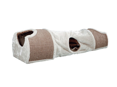 Cat Scratching Tunnel 110x30x38cm - Light Grey/Brown ^43004