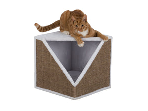Ofelia Scratching Cube 40cm - White/Brown* ^43574
