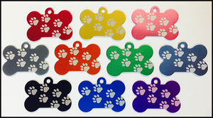 Flash Tags Paw Print Bones