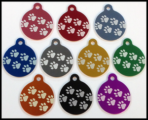 Flash Tags Paw Print Circles