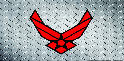 US Air Force Red Logo License Plate