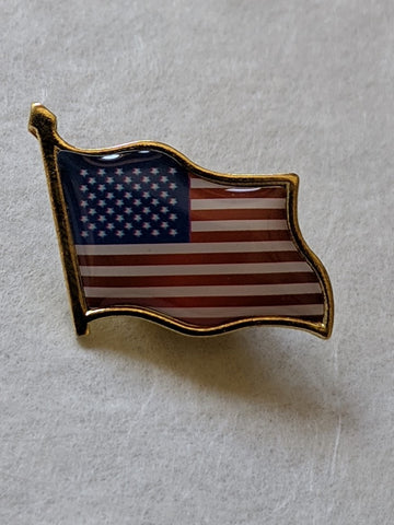 American Flag Hat Tie Tack Badge Waving Lapel Pin United States New