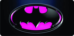 Batman Custom Made Lice plate Pink