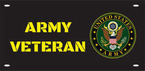 Army Veteran License  Plate Custom Made