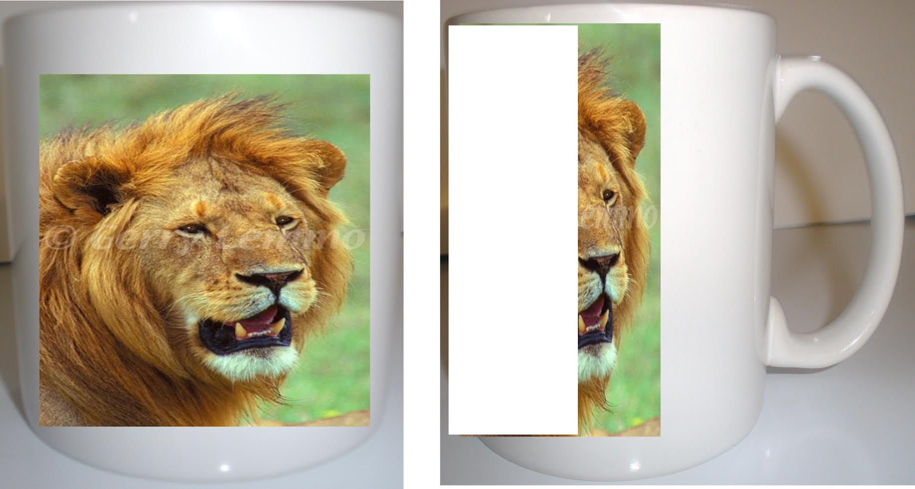 African Lion 12 oz Coffee Mug