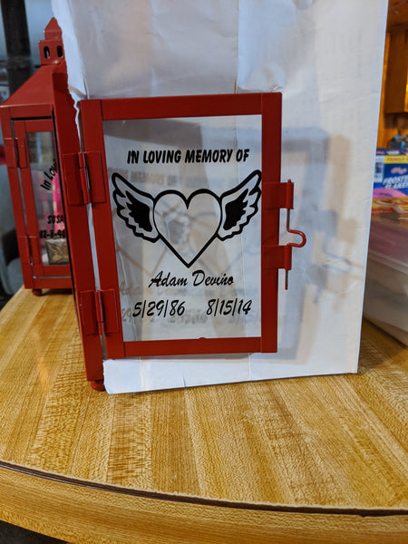 Memorial Lantern hand custom made in the USA