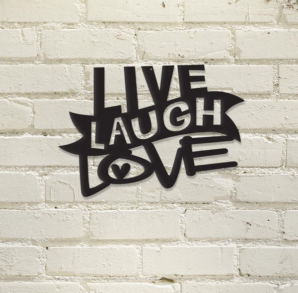 Live, Laugh, Love - Metal Wall Art/Decor