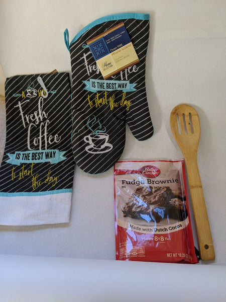 Oven Mit Gift Set spoon, fudge brownie hand towel