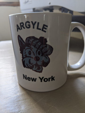 Argyle Coffee mug Front View
