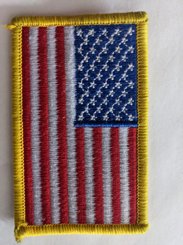 American Flag Shoulder Patch Made in America Embroidered