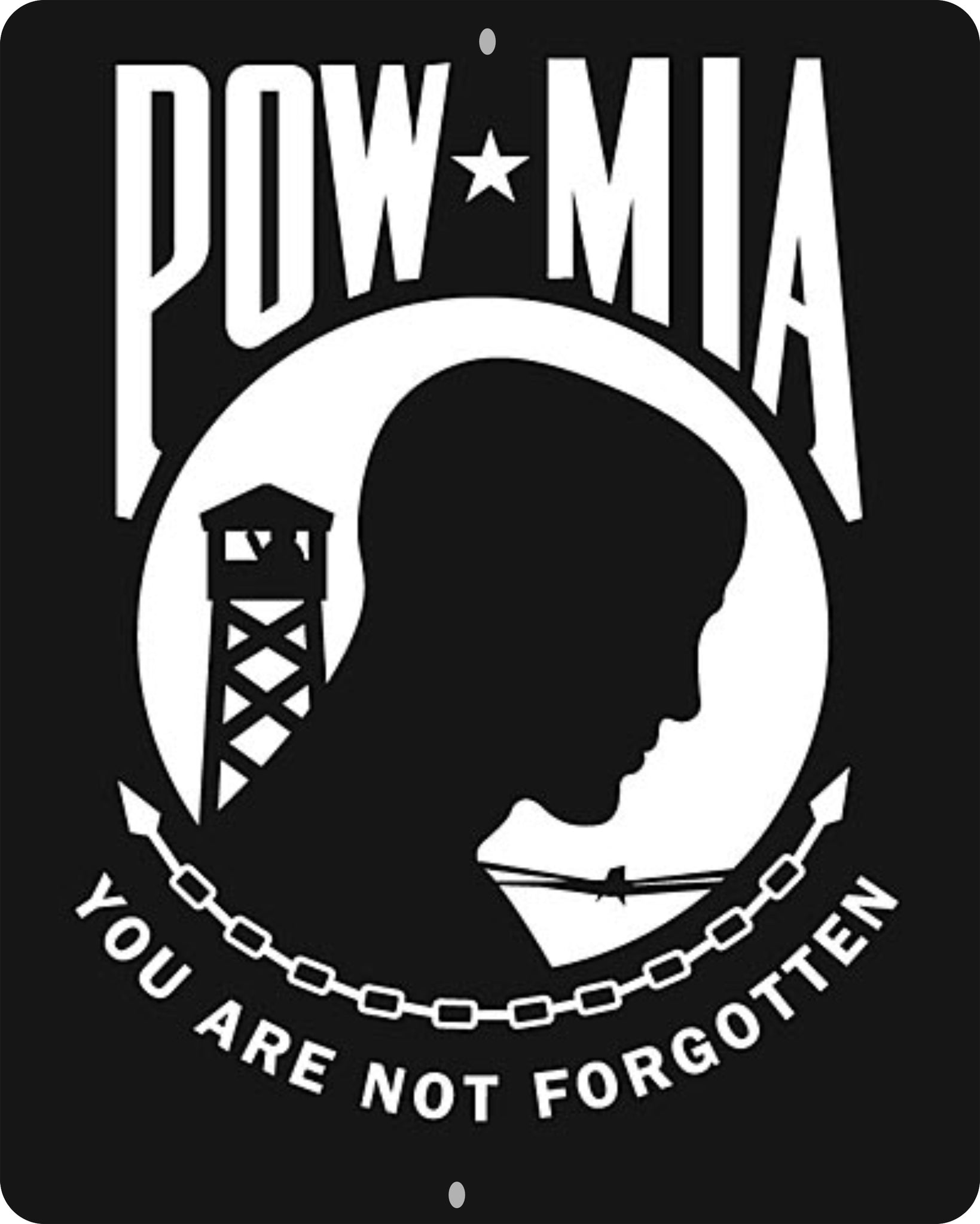 POW*MIA 8 X 10 CUSTOM MADE SIGN