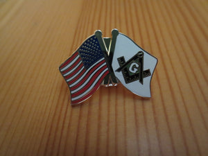 Masonic Lapel Pins Badge Mason Freemason B39 USA and Mason Crossed Friendship