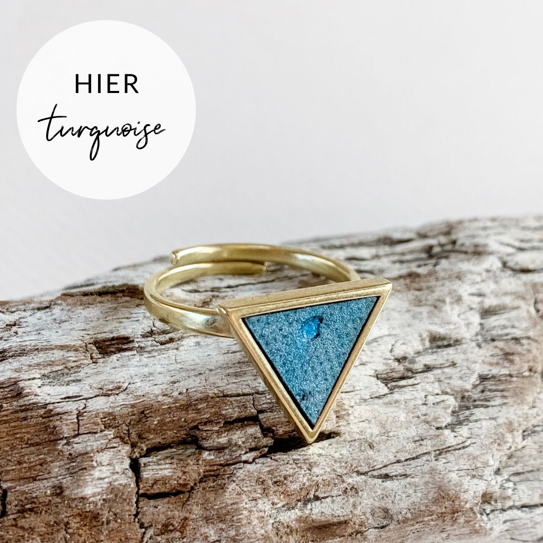 Ring DREIECK turquoise