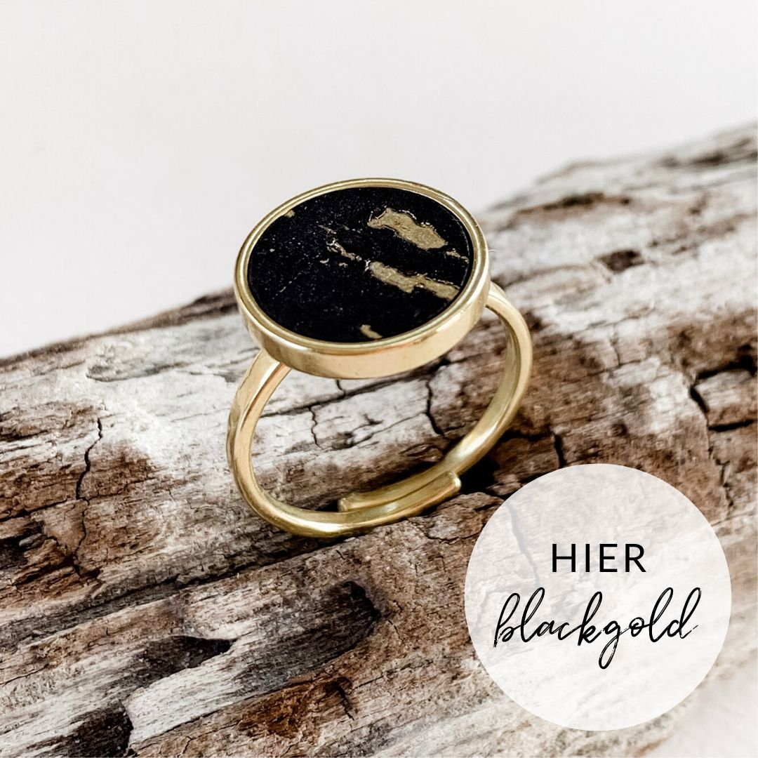 Ring RUND blackgold