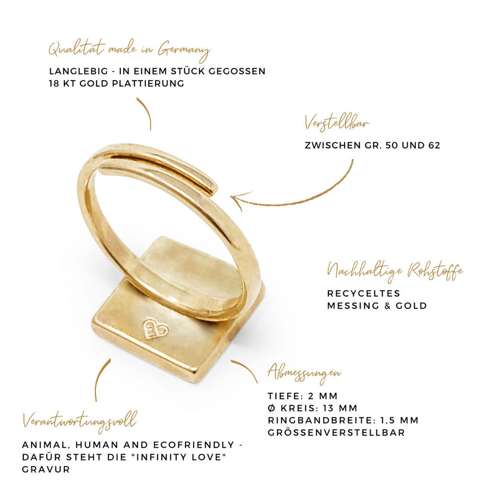 Ring QUADRAT naturegold