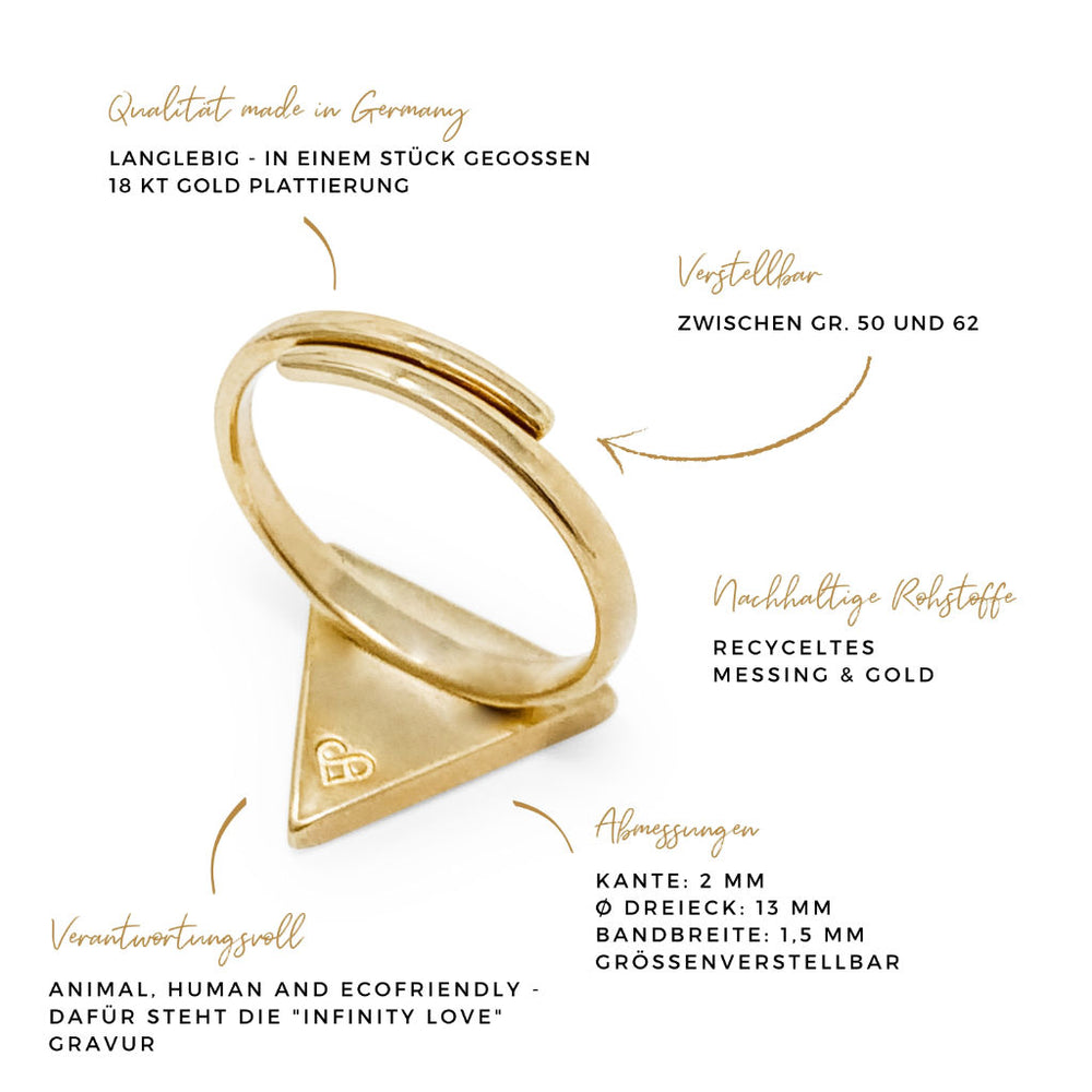 Ring DREIECK naturegold