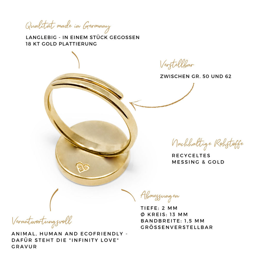 Ring RUND naturegold