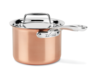 ALL-CLAD c4 COPPER 2-QT SAUCE PAN