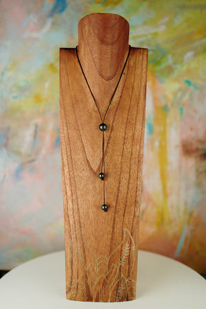 Single Tahitian Pearl Lariat Necklace