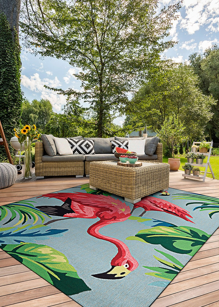 Couristan Covington Flamingo indoor/outdoor area rug