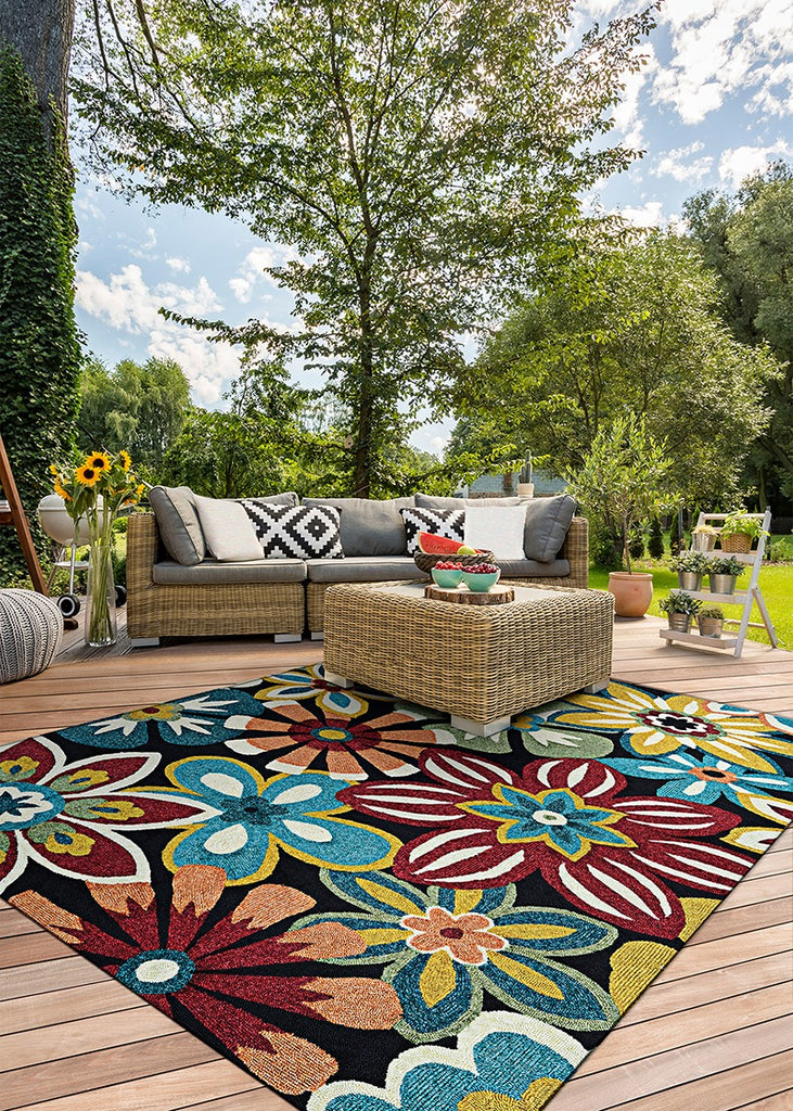 Couristan Covington Geranium Navy-Multi area rug