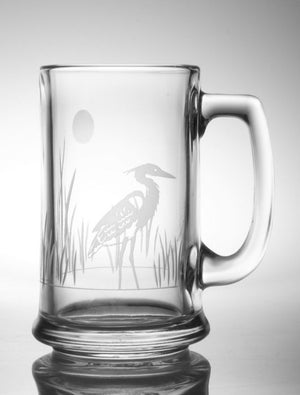 Heron Beer Mug 16oz | Set of 4 Glasses | Rolf Glass