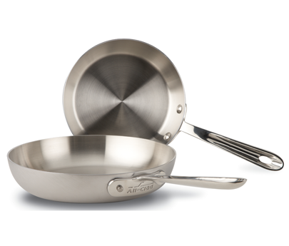 All-Clad d5 Stainless Brushed French Skillet Set