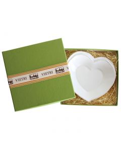 Lastra White Heart Dish In Gift Box