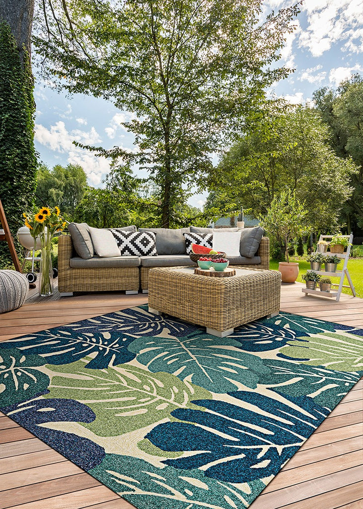 Couristan Covington Monstera Cream-Multi area rug