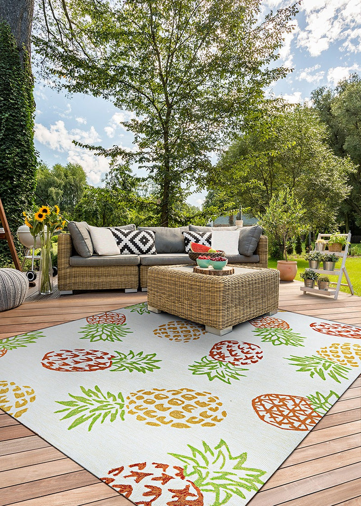 Couristan Covington Pineapples Sand area rug