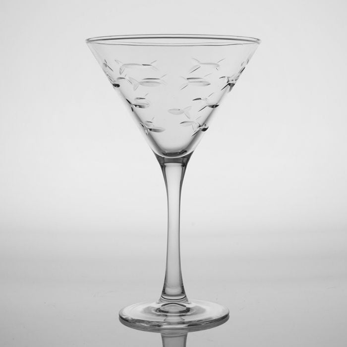 Rolf School of Fish 10 oz. Martini Glass