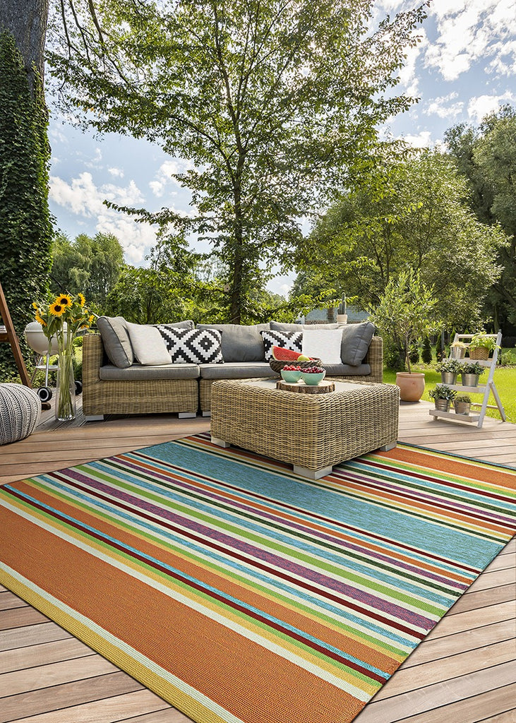Couristan Covington Sherbert Stripe Multi area rug