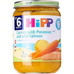 Hipp Organic Carrot With Potato Salmon 190g