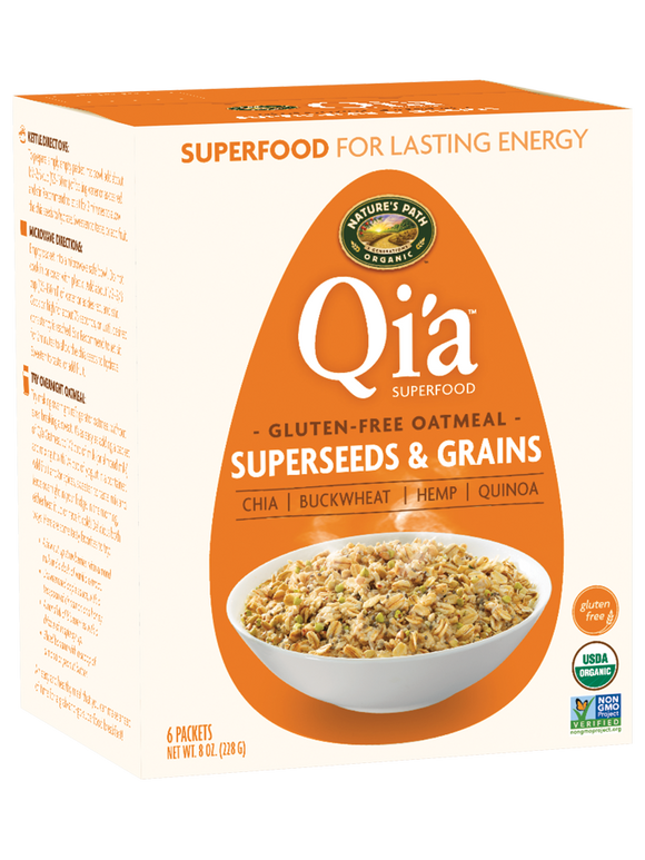 Nature's Path Organic Qia Cereal Oatmeal Super seeds & Grains 8oz