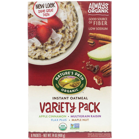 Nature's Path Organic Hot Cereal Oatmeal Variety Pack 14oz