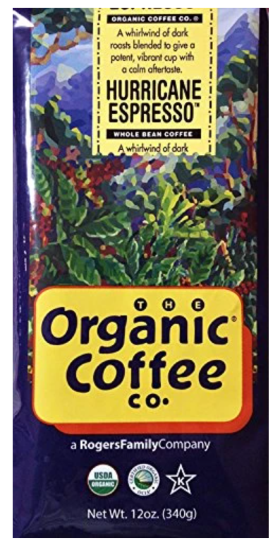 The Organic Coffee Co Coffee Beans Hurricane Expresso 12oz